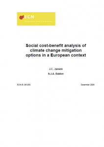CBA of climate change mitigation options in a European context September 2006